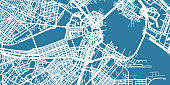 One colour map of centre of Boston