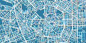 One colour map of centre of Milan