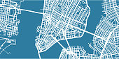 One colour map of centre of New York