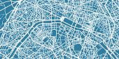 One colour map of centre of Paris