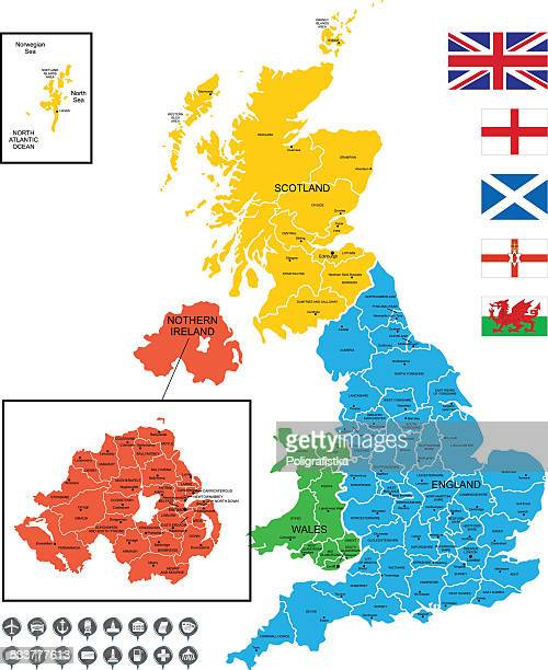 Detailed Vector Map of United Kingdom