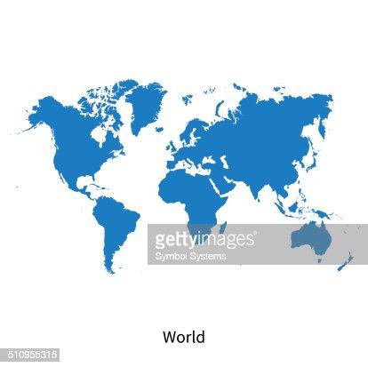 Detaillierte Vektor-Karte der Welt : Vektorgrafik