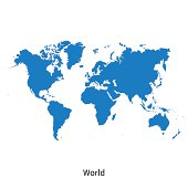 Detailed vector map of World