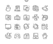 Devices Well-crafted Pixel Perfect Vector Thin Line Icons 30 2x Grid for Web Graphics and Apps. Simple Minimal Pictogram