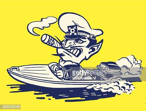 Devil Boat Captian Vector Art