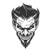 Devil head illustration in vector
