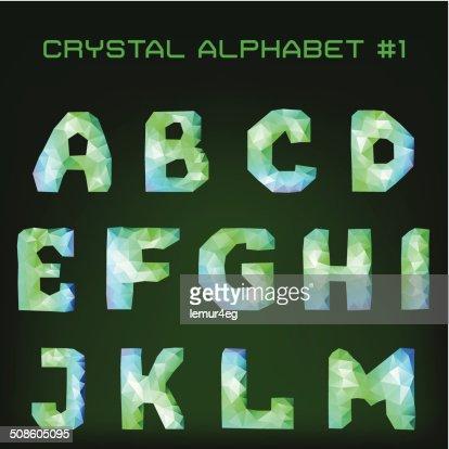 diamond font : Vector Art