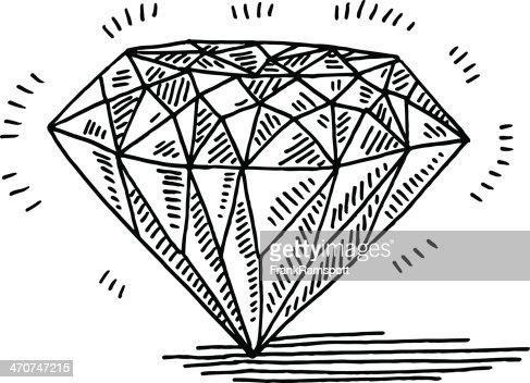 diamond gemstone drawing vector art getty images