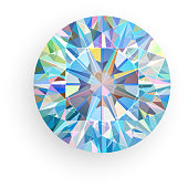 Diamond isolated on white background. Vector illustration