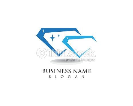plantilla de logotipo de diamante arte vectorial thinkstock