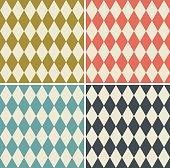 seamless diamond wallpaper pattern set.