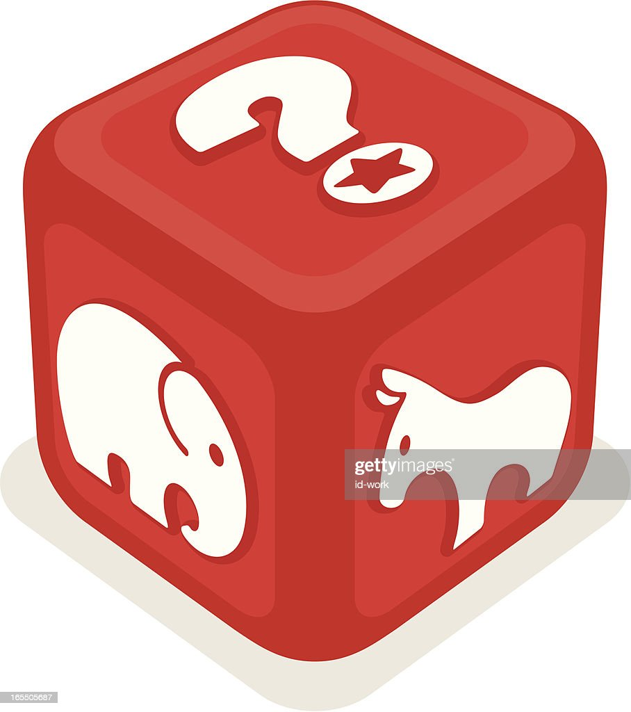 dice for vote : Vector Art