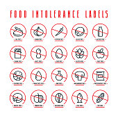 Diet labels, food intolerance such as gluten, soy, nuts, sugar, eggs, lactose, GMO, mushrooms free and other
