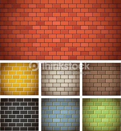 99a7932b4718f Texturas Diferentes Cor Tijolo Arte vetorial   Thinkstock