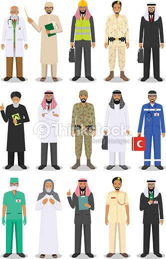 Different people professions occupation characters man set in flat style isolated on white background. Templates for infographic, sites, banners, social networks. Vector illustration