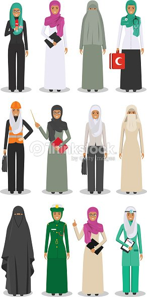 Different people professions occupation characters woman set in flat style isolated on white background. Templates for infographic, sites, banners, social networks. Vector illustration