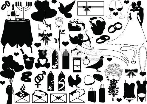 Different Sign And Symbols Of Love Vector Art Thinkstock