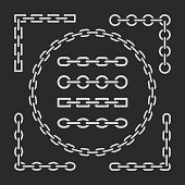 Different types of chains.