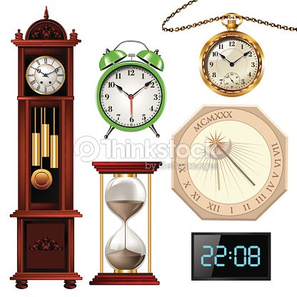Different Types Of Clocks Vector Art Thinkstock