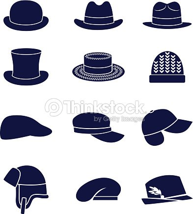 3af3dc2129e34 Different Types Of Men Hats stock vector - Thinkstock