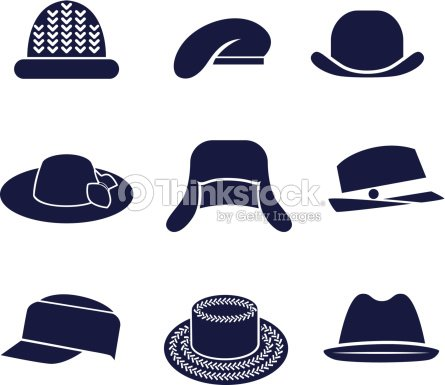 Different Types Of Womens Hats Vector Art  94009182e17