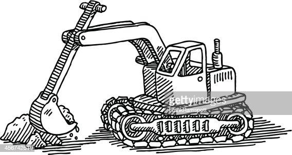 Pelle m canique jouet dessin clipart vectoriel getty images - Pelle mecanique dessin anime ...