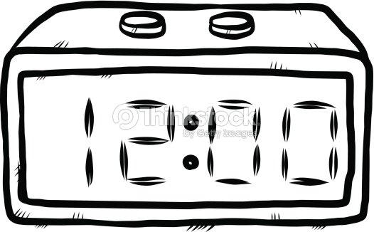 Radior veil num rique dessin anim clipart vectoriel - Dessin reveil ...