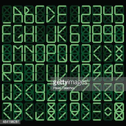 Alfabeto Digital : Arte vectorial
