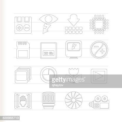 Digital Camera Performance : Vector Art
