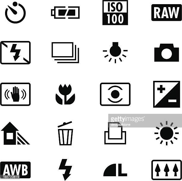 Digital Camera Settings Icons