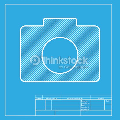 Digital camera sign white section of icon on blueprint template digital camera sign white section of icon on blueprint template vector art malvernweather Images