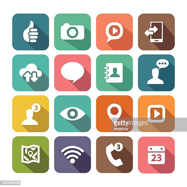 Digital icon set for web and mobile applications