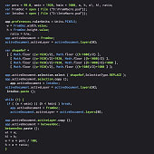 Digital java code text. Computer software coding vector concept. Programming coding script java, digital program code on screen illustration