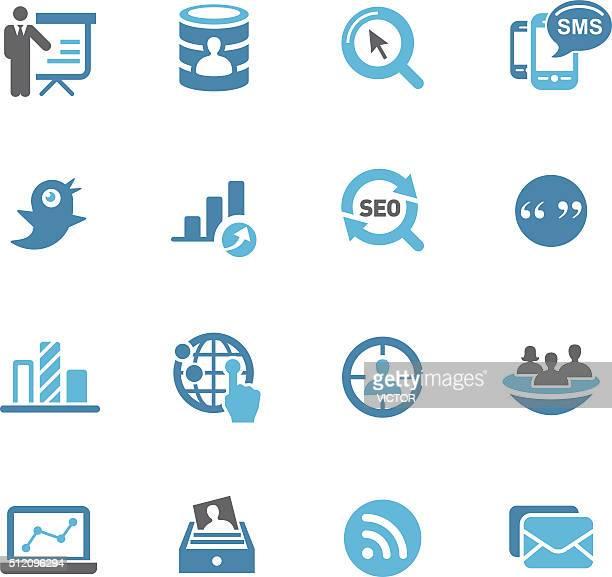 Digital Marketing Icons - Conc Series