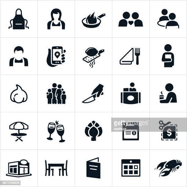 Speisesaal und Restaurant Icons