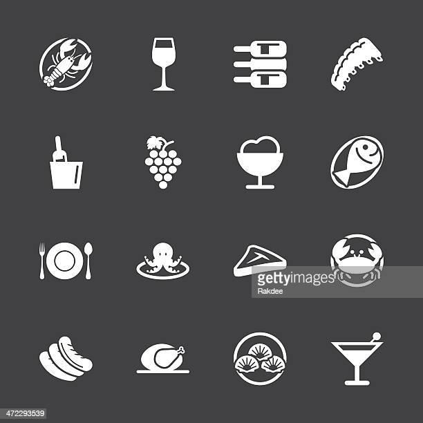Dinner Icons - White Series | EPS10