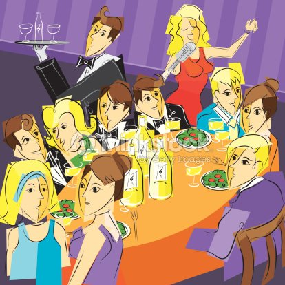 D ner de f te clipart vectoriel thinkstock for Souper simple entre amis