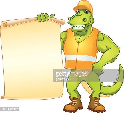 Dino Worker Message : Vectorkunst