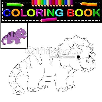 Livre Coloriage Dinosaure.Livre De Coloriage Dinosaure Clipart Vectoriel Thinkstock