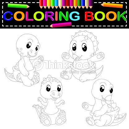 Coloriage Dinosaure Fossiles.Livre De Coloriage Dinosaure Clipart Vectoriel Thinkstock