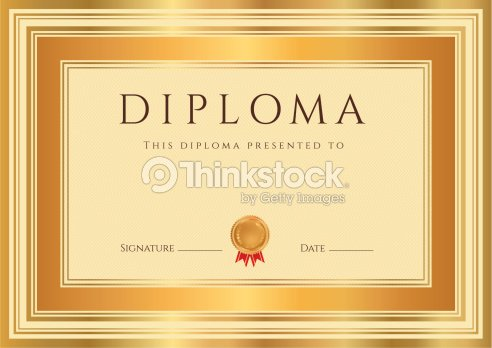 Diploma certificate award background design with bronze gold frame diploma certificate template award background design with bronze gold frame yelopaper Choice Image