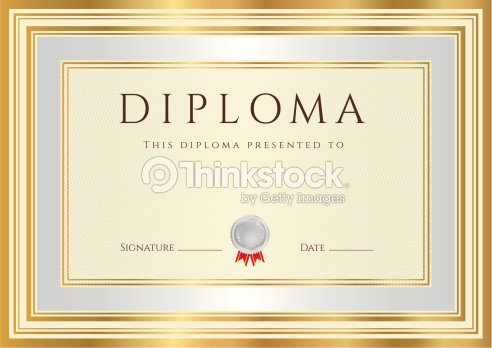 Diploma certificate award background design with silver gold frame diploma certificate template award background design with silver gold frame yelopaper Choice Image
