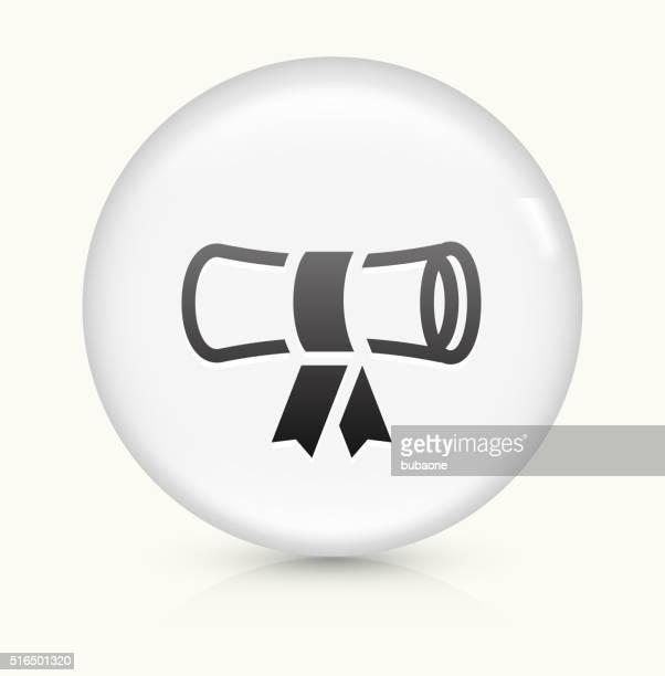 Diploma icon on white round vector button