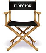 Director`s chair, vector illustration