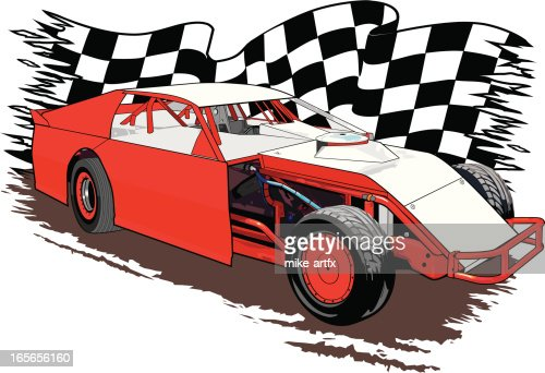 Dirt Race Car Vector