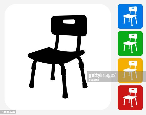 Disabled Chair Icon Flat Graphic Design