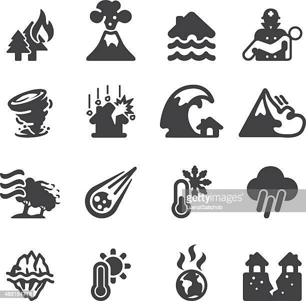 Desastre Silueta de iconos/EPS10