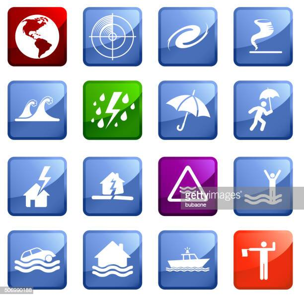 Catástrofes icono situado sobre fondo blanco.