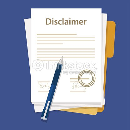 Disclaimer Document Paper Legal Agreement Signed Stamp Vector Art
