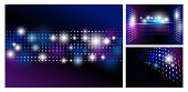 Disco abstract background with spot light design